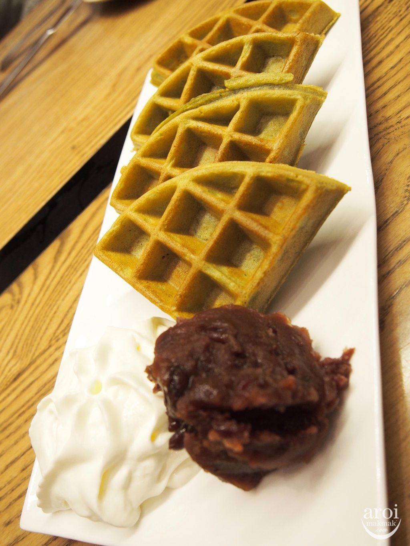 Kalpapruek - Matcha Waffle with Azuki Red Bean