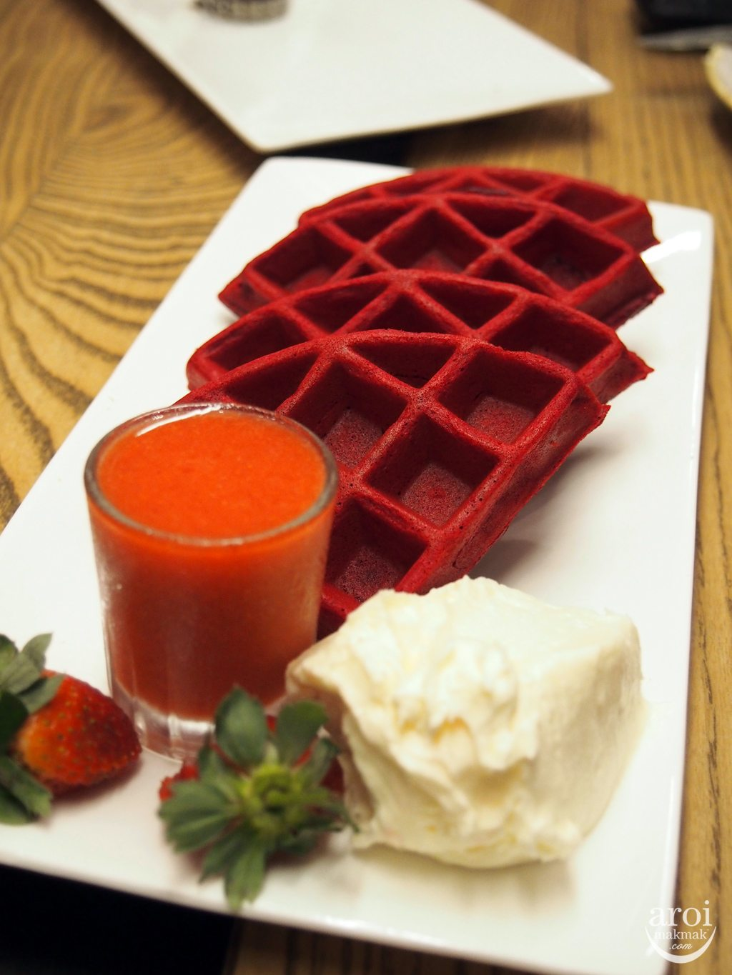 Kalpapruek - Red Velvet Waffle with Cream Cheese