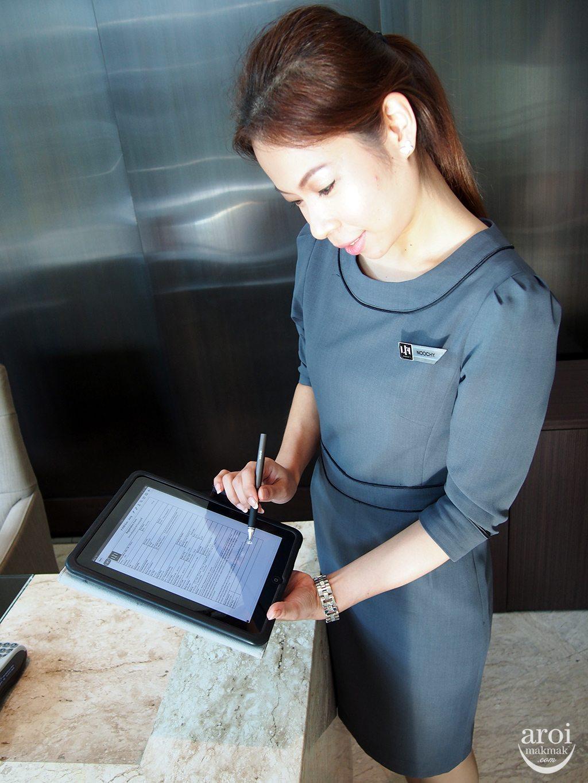 The Lit Bangkok - Check in iPad
