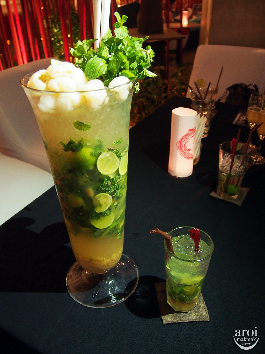 nest Rooftop Bar - Lychee Mojito Tower