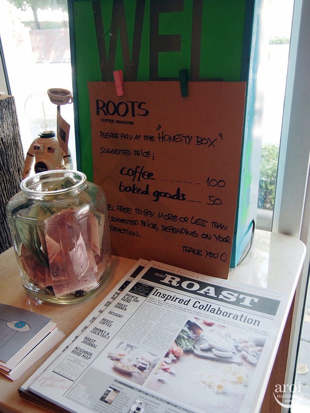 Roots Coffee Roasters - Honesty Box