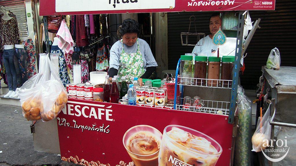 Pratunam Morning Market - Drinks Cart