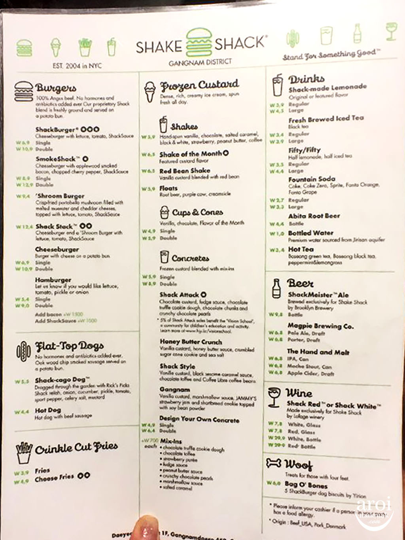 seoulshakeshack-gangnamgu-menu