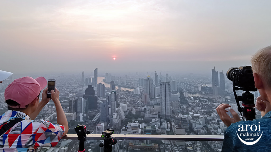 mahanakhonskywalk-sunsetview