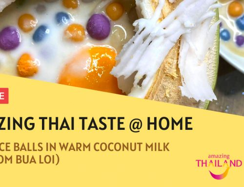 Thai Rice Balls in Warm Coconut Milk – Amazing Thai Taste @ Home
